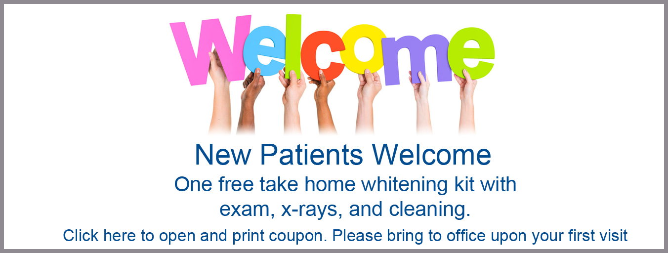 New Patients Welcome Coupon | Free Take Home Whitening | Dentist in Overland Park, KS
